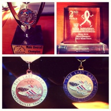 First Donna Half, Sandpiper 5K in Ormond Beach, and Last Gasp medals