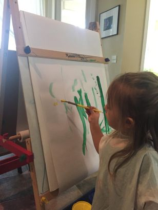 Eleanor Paints a Picture for her Mom